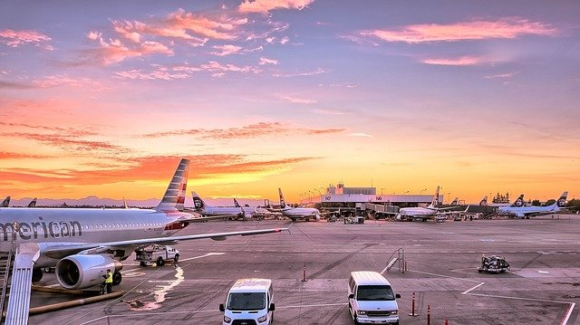 přípravy na letišti