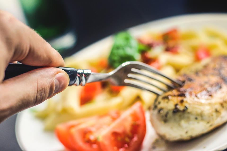 vidlička, jedlo